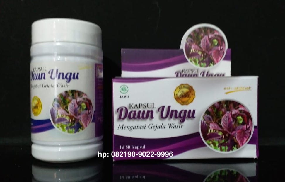 kapsul daun ungu makassar