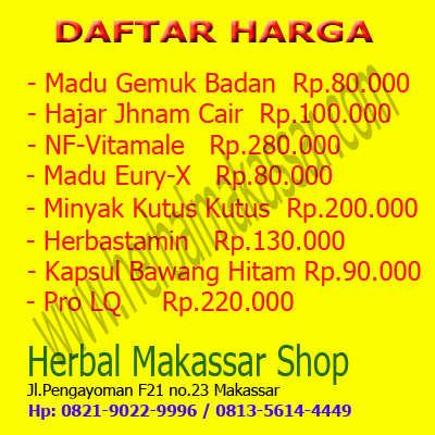 Daftar Harga Produk Herbal Makassar Shop
